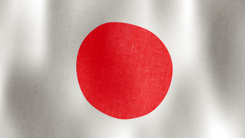 Japanese Flag Waving, Loopable, 20 sec Stock Video Footage