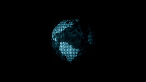 Digital World Binary Code Animation, Blue. Global  stock footage