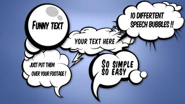 Cartoon Speech Bubble Apple Motion Template