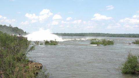 016 Iguazu waterfalls , viewed from Argentina , De Stock Video Footage