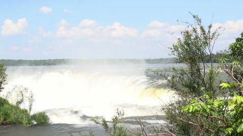 018 Iguazu waterfalls , viewed from Argentina , De Stock Video Footage