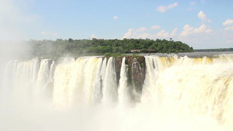 021 Iguazu waterfalls , viewed from Argentina , De Footage