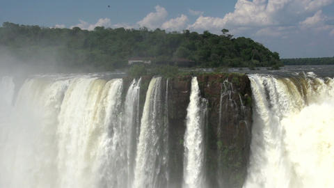 031 Iguazu waterfalls , viewed from Argentina , De Stock Video Footage