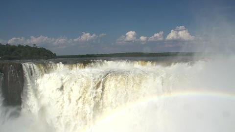 035 Iguazu waterfalls , viewed from Argentina , De Stock Video Footage