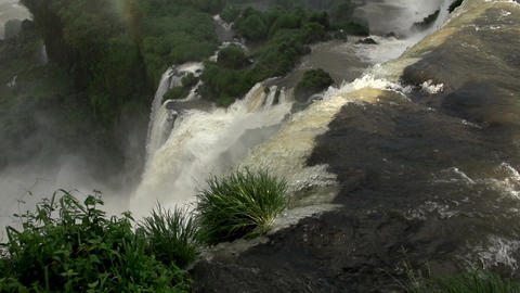 053 Iguazu waterfalls , Argentina , rainbow , slow Stock Video Footage