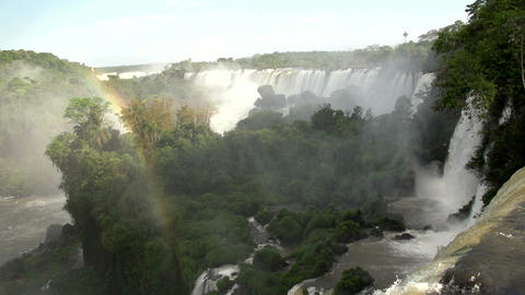 053 Iguazu waterfalls , Argentina , rainbow , slow Footage