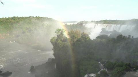 056 Iguazu waterfalls , Argentina , people on brid Footage