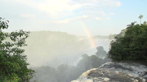 063 Iguazu waterfalls , Argentina , slowmotion , r Footage