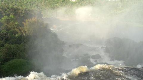 064 Iguazu waterfalls , Argentina , slowmotion , t Stock Video Footage