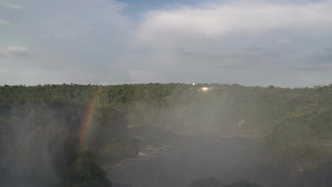 067 Iguazu waterfalls , Argentina , rainbow Stock Video Footage