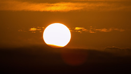 4K Close Up Sunset Time Lapse stock footage