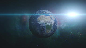 Earth Zoom In stock footage