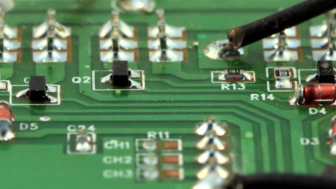 Green circuit board - Microelectronic components ビデオ