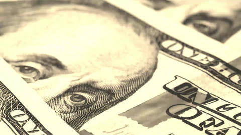 US Currency One Hundred Dollar Bill Stock Video Footage