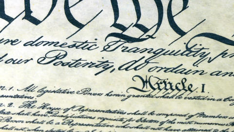 Constitution of United States Historical Document Footage