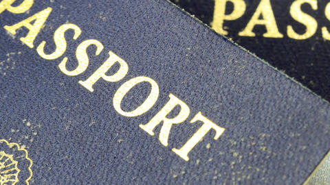 United States of America travel passport Footage