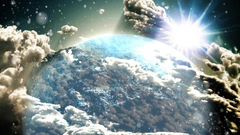 Clouds and Earth Zoom Out Animation Video Animation