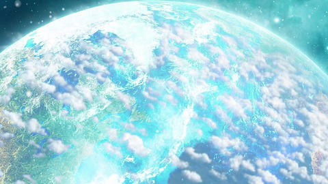 Earth And Clouds Rotation Animation Video stock footage