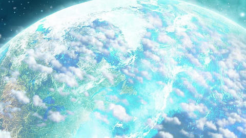 Earth and Clouds Rotation Animation Video Stock Video Footage