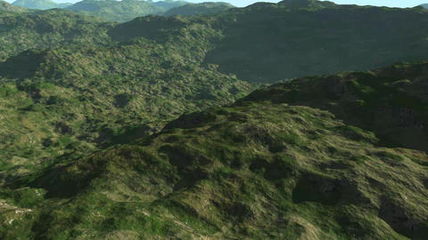 Earth and Mountain Flyover Animation Video Animation