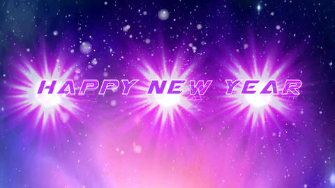Happy New Year Pink Glow Animation stock footage