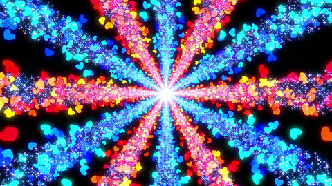 Space Colorful Heart BE 1b 4k Stock Video Footage