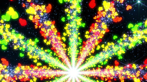 Space Colorful Heart BE 4b 4k Stock Video Footage