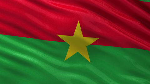 Flag of Burkina Faso seamless loop Animation