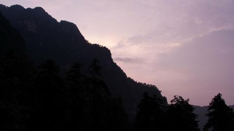 Sunset in Mount Emei Stock Video Footage