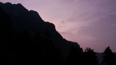 Sunset in Mount Emei Stock Video Footage