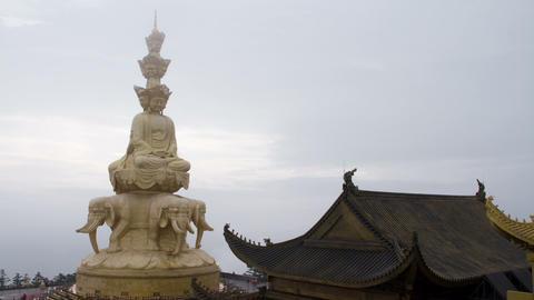 Samantabhadra Bodhisattva statue Stock Video Footage