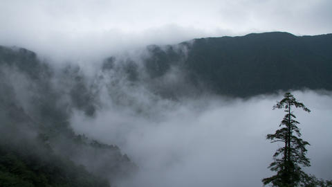 Timelapse view in Mount Emei Stock Video Footage