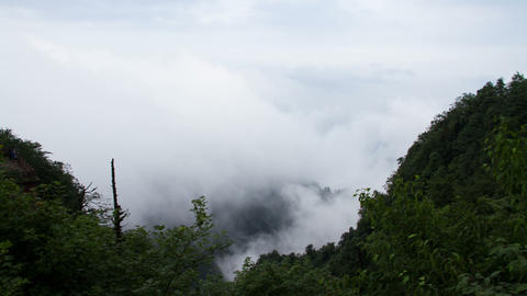 Timelapse view in Mount Emei Footage