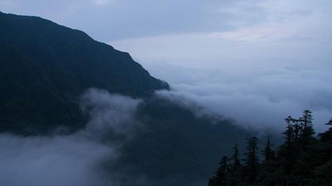 Timelapse view in Mount Emei Footage