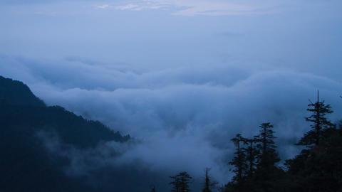 Mist In The Mt Emei stock footage