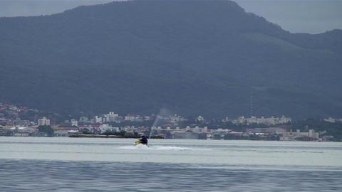 020 Florianopolis , skyline Beira Mar avenue , wat Footage