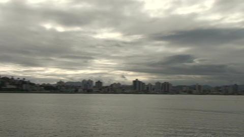 047 Florianopolis , Hercilio Luz bridge , skyline  Footage