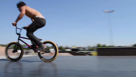 Cesar Teixeira during the DVS BMX Series 2014 by F Stock Video Footage