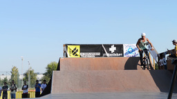 Helder Oliveira during the DVS BMX Series 2014 by Stock Video Footage