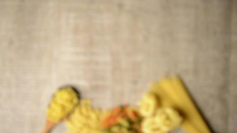 Italian pasta ingredients Stock Video Footage