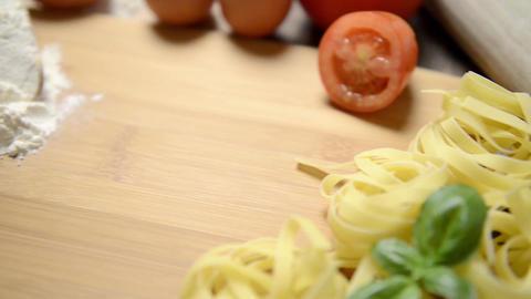 Italian pasta ingredients Footage