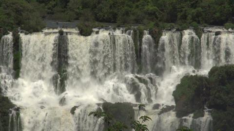 004 Iguazu waterfalls , viewed from Brazil Stock Video Footage