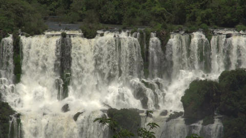 004 Iguazu waterfalls , viewed from Brazil Footage