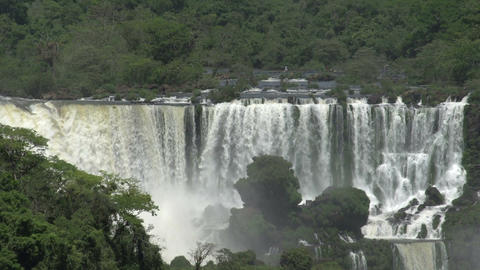 010 Iguazu waterfalls , viewed from Brazil Footage