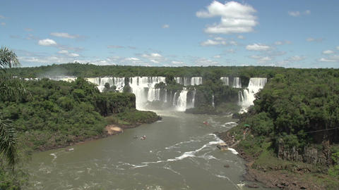 012 Iguazu waterfalls , viewed from Brazil Footage