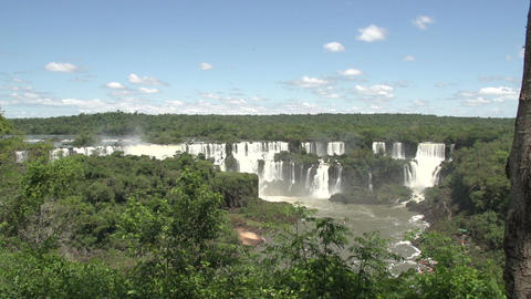 018 Iguazu waterfalls , viewed from Brazil Footage