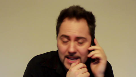Secret conversation on the cell phone Stock Video Footage