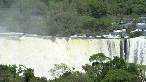 020 Iguazu waterfalls , viewed from Brazil , pansh Stock Video Footage