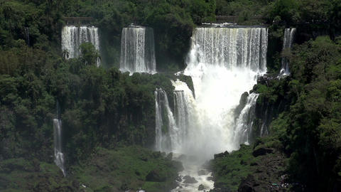 022 Iguazu waterfalls , viewed from Brazil , slowm Footage