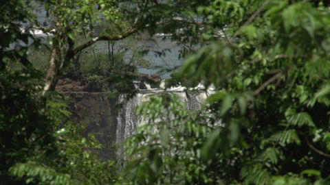 025 Iguazu waterfalls , viewed from Brazil Stock Video Footage